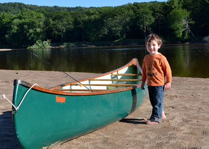 canoeing with a toddler