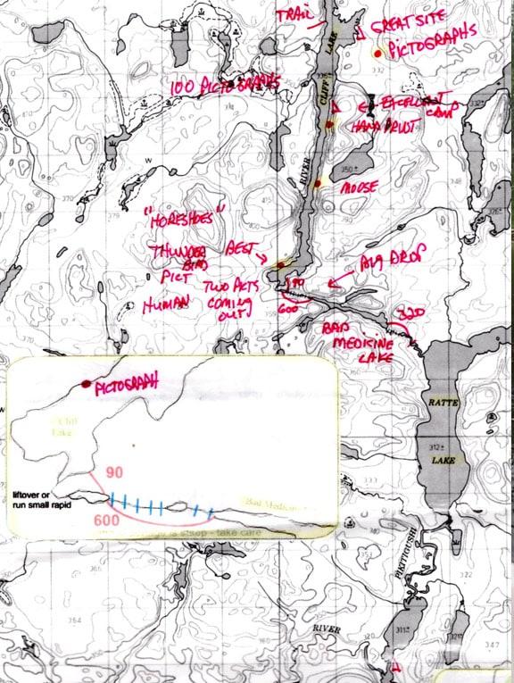 canoe trip map Wabakimi