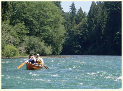 Canoeing Down the Cowlitz River in Washington State on July 4th