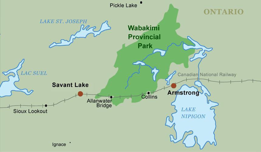 Thunder Bay Michigan Map.Wabakimi Provincial Park Canoe Trip Planning Maps Trip Logs