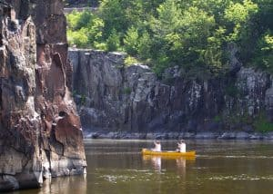 Canoeing the St. Croix River in Wisconsin. Photo courtesy www.ramblingtraveler.com