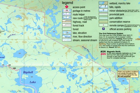 Review The New Woodland Caribou Provincial Park Map Canoeingcom