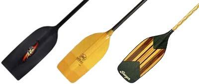 Whitewater Canoe Paddles