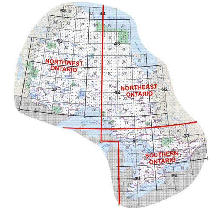 Ontario Topographic Map.Canada Map Sales Canadian Topographic Maps Ontario Navigation