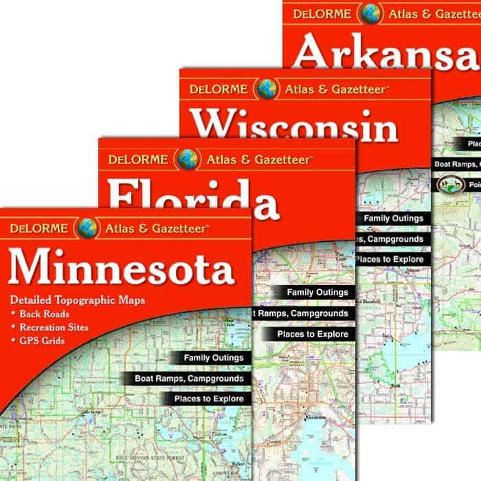DeLorme® Atlas & Gazetteer Paper Maps · Navigation on