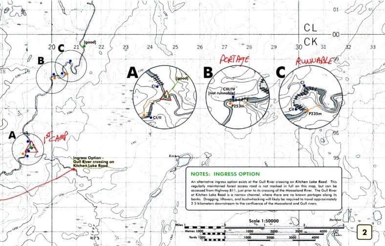 Gull River Canoe Trip Map 2 © Vern Fish