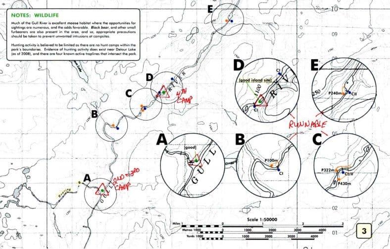 Gull River Canoe Trip Map 3 © Vern Fish