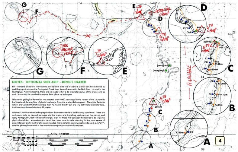 Gull River Canoe Trip Map 4 © Vern Fish