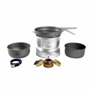 TRANGIA 25-7 Ultralight Hard Anodized Alcohol Stove Kit with Spirit Burner