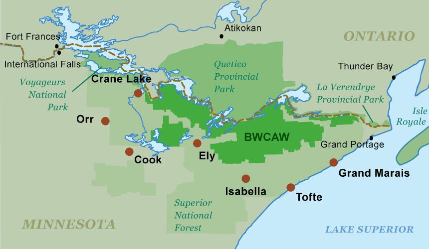 Boundary Waters Map Boundary Waters Canoe Area Wilderness BWCA Canoe Trip Guide Boundary Waters Map