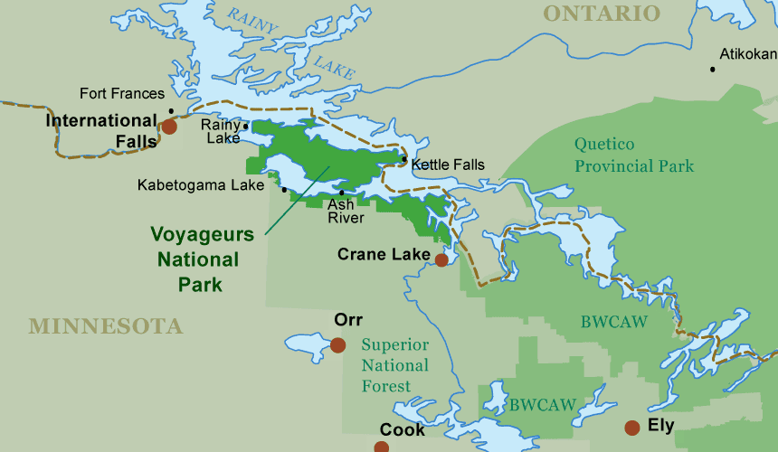 Voyageurs National Park Map Voyageurs National Park Guide   Plan Your Canoe Trip